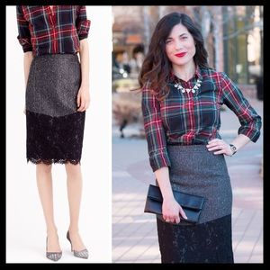 j. crew // perfect party pencil skirt sequin lace